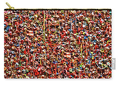 Seattle Gum Wall 2 Carry-all Pouch by Allen Beatty