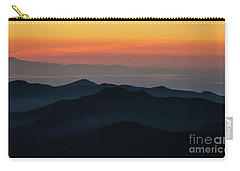 Seattle Puget Sound And The Olympics Sunset Layers Landscape Carry-all Pouch by Mike Reid