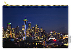 Seattle Seahawks Space Needle Carry-all Pouch by Mary Jo Allen