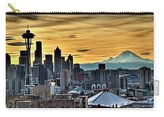 Seattle Skyline - Mt Rainier Carry-all Pouch