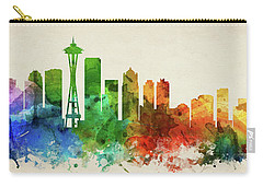 Seattle Skyline Panorama Uswase-pa03 Carry-all Pouch