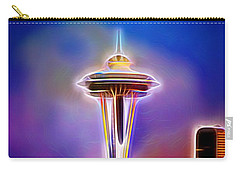 Carry-all Pouch featuring the photograph Seattle Space Needle 1 by Aaron Berg