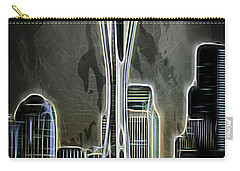 Carry-all Pouch featuring the photograph Seattle Space Needle 2 by Aaron Berg