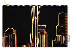 Carry-all Pouch featuring the photograph Seattle Space Needle 3 by Aaron Berg