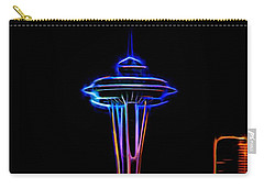 Carry-all Pouch featuring the photograph Seattle Space Needle 4 by Aaron Berg