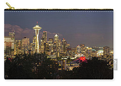 Seattle Washington City Skyline At Dusk Panorama Carry-all Pouch