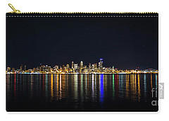 Seattle, Washington Skyline #2 Carry-all Pouch by Patrick Fennell