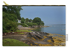Seaweed Covered Rocks On The Coast Of Bustin's Island Carry-all Pouch by DejaVu Designs