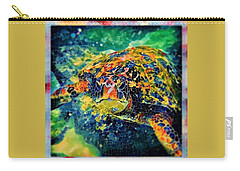 Sebastian The Turtle Carry-all Pouch by Erika Swartzkopf
