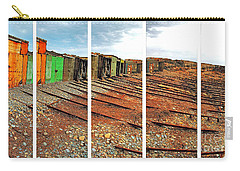 Carry-all Pouch featuring the photograph Second Valley Boat Sheds by Stephen Mitchell