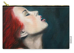 Carry-all Pouch featuring the painting Secret Darling by Jindra Noewi