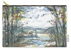 Carry-all Pouch featuring the painting Secret Sailing Spot by Reed Novotny