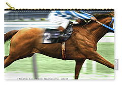 Secretariat Is Widening The Lead Now,  Painting Belmont Stakes  Carry-all Pouch by Thomas Pollart