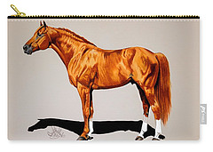 Secretariat - Triple Crown Winner By 31 Lengths Carry-all Pouch by Cheryl Poland