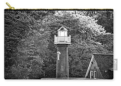 Carry-all Pouch featuring the photograph Sedgely Club - Turtle Rock Lighthouse by Bill Cannon