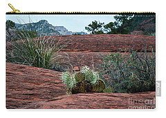 Carry-all Pouch featuring the photograph Sedona Cactus by Kirt Tisdale