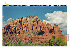 Carry-all Pouch featuring the photograph Sedona, Rocks And Clouds by Bill Gallagher