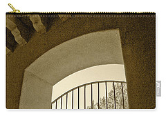 Carry-all Pouch featuring the photograph Sedona Series - Through The Window by Ben and Raisa Gertsberg