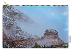 Carry-all Pouch featuring the photograph Sedona Winter by Sandra Bronstein