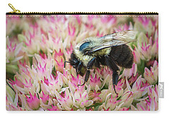 Carry-all Pouch featuring the photograph Sedum Bumbler by Bill Pevlor