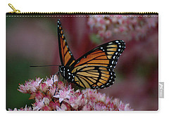 Carry-all Pouch featuring the photograph Sedum Butterfly by Melissa Lane