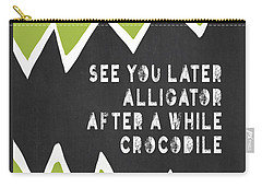 Carry-all Pouch featuring the painting See You Later Alligator by Lisa Weedn