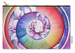 Seed Of Life - Mandala Of Divine Creation Carry-all Pouch by Anna Miarczynska