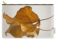 Seeing Double Autumn Leaf  Carry-all Pouch by Sandra Foster