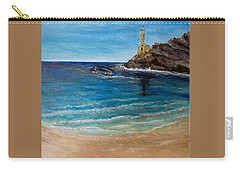 Carry-all Pouch featuring the painting Seek A Source Of Light Built On A Firm Foundation To Guide You Safely To Shore by Kimberlee Baxter