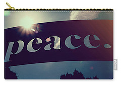 Carry-all Pouch featuring the photograph Seek Peace And Pursue It by Joel Witmeyer