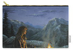 Carry-all Pouch featuring the painting Seeking Solace by Kim Lockman