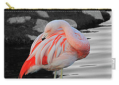 Selective Color Flamingo  Carry-all Pouch by Shoal Hollingsworth