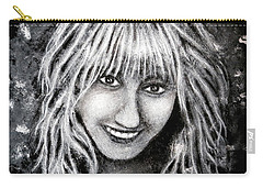 Carry-all Pouch featuring the painting Self Portrait #1 by Teresa Wing