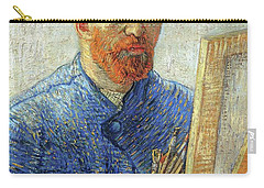 Carry-all Pouch featuring the painting Self Portrait As An Artist by Van Gogh