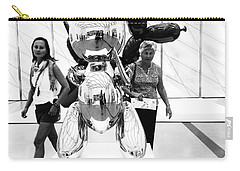 Self Portrait In Jeff Koons Mylar Rabbit Balloon Sculpture Carry-all Pouch