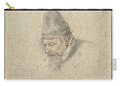 Carry-all Pouch featuring the painting Self Portrait Of Henry Avercamp, Hendrick Avercamp, 1592-1629 by Artistic Panda