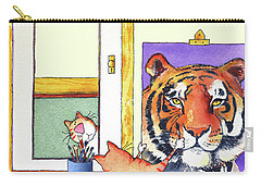 Self Portrait, Tiger Carry-all Pouch