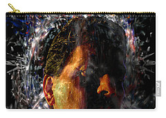 Carry-all Pouch featuring the digital art Self Portrait With Aura by Reed Novotny