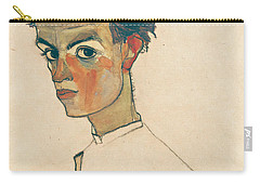 Self-portrait With Striped Shirt Carry-all Pouch