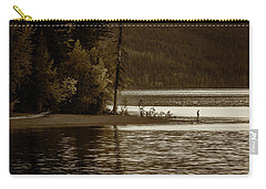 Self Reflection On The Lake Carry-all Pouch