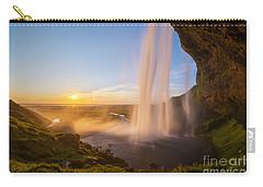 Seljalandsfoss Sunset Iceland Carry-all Pouch
