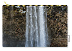 Carry-all Pouch featuring the photograph Seljalandsfoss Waterfall Iceland Europe by Matthias Hauser