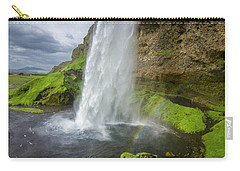 Seljalandsfoss With Rainbow, Iceland Carry-all Pouch