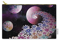 Carry-all Pouch featuring the digital art Seminal Flowers by Rosa Cobos