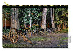 Carry-all Pouch featuring the photograph Seminary Ridge Artillery by Rob Sellers