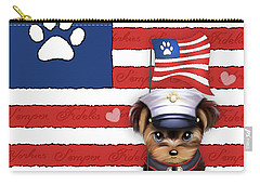 Semper Fidelis Yorkie Marine Carry-all Pouch by Catia Cho