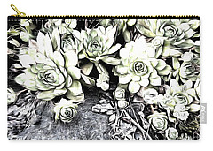 Sempervivum - Ebony And Ivory  Carry-all Pouch