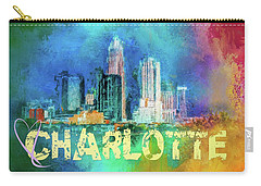 Sending Love To Charlotte Carry-all Pouch by Jai Johnson