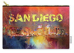 Sending Love To San Diego Carry-all Pouch by Jai Johnson