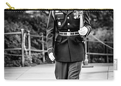Carry-all Pouch featuring the photograph Sentinel At The Tomb Of The Unknowns by David Morefield